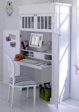 Soluciones invisibles para estudios o apartamentos tip - Armario escritorio ikea ...