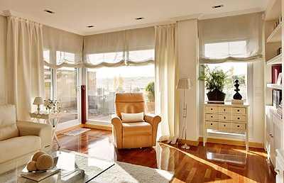 Tendencias para vestir las ventanas tendencias decora - Cortinas salon rustico ...