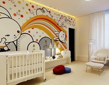 Decoraci n original para el dormitorio del beb infantil decora ilumina - Dormitorio para bebe ...