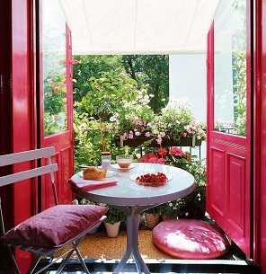 Decoracion mueble sofa cojines terraza - Manteles antimanchas leroy merlin ...