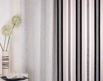 Visillos estores paneles japoneses y todo en cortinas for Cortinas salon gris y blanco