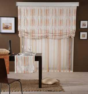 Visillos estores paneles japoneses y todo en cortinas for Visillos estores para salon