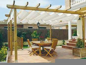 Pergolas jardin ikea for Terrazas rusticas techadas