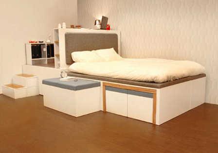 uque se abre para convertirse en prcticos muebles de estar los asientos los sacas del costado y de debajo de la cama al igual que la mesa de centro