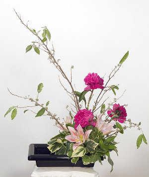 Centros de mesa con flores para el comedor de diario