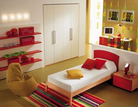 Tips de decoraci n habitaciones peque as y colores - Papel para habitaciones juveniles ...
