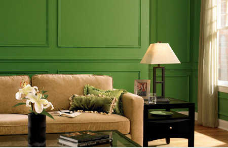 C mo elegir el color de las paredes de tu sala pintura - Color marfil en paredes ...