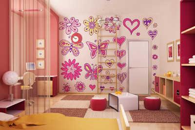 Vinilos y pintura color para las paredes de la habitaci n de ni as infantil decora ilumina - Decoracion habitacion de nina ...