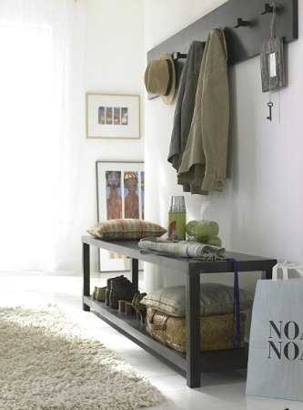 El perchero para ordenar la entrada de la casa sala decora ilumina - Perchero de pared original ...