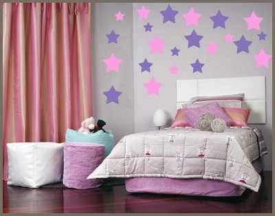 Vinilos y pintura color para las paredes de la habitaci n - Pinturas para habitaciones juveniles ...