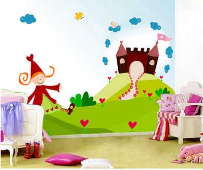Vinilos y pintura color para las paredes de la habitaci n - Casas decoradas con papel pintado ...