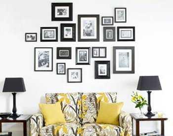 C mo decorar con fotos las paredes de tu casa tip del - Cuadros con fotos familiares ...