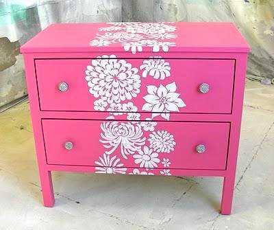 Decoraci n de paredes con est ncil renueva tu decoraci n - Decorar un mueble ...