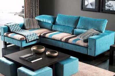 Top imagenes de decoracion de salas images for pinterest - Sofa azul turquesa ...