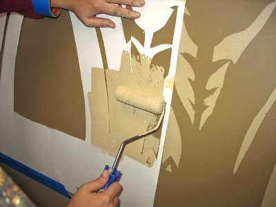 Decoraci n de paredes con est ncil renueva tu decoraci n for Disenos de pintura en paredes