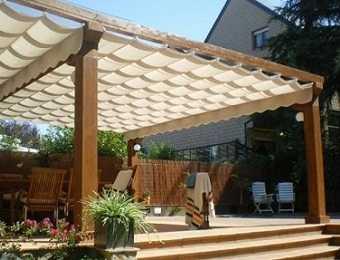 Decoraci n de terrazas porches p rgolas y toldos - Toldos y pergolas para terrazas ...