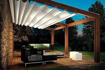 Decoraci n de terrazas porches p rgolas y toldos terraza decora ilumina - Toldos pergolas para terrazas ...
