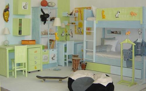 Cuartos de ni̱os pintados de verde Рdabcre.com
