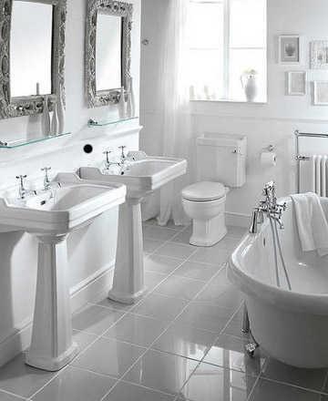 El color perfecto para ba o ba o decora ilumina for Accesorios bano color blanco