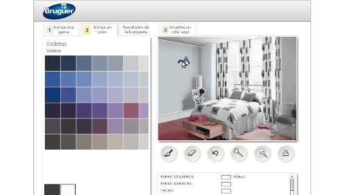 Hoza acogedora personales simulador pintura paredes bruguer - Simulador pintar habitacion ...