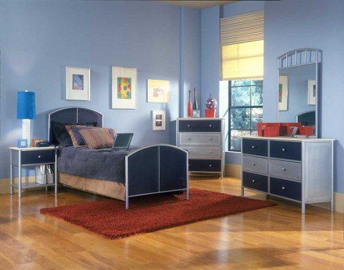 Colores para pintar una habitaci n juvenil dormitorio for Cuarto azul con gris