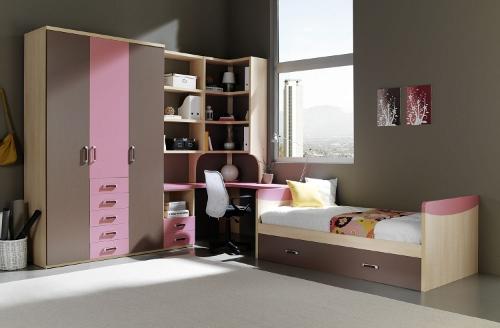 C mo decorar una habitaci n juvenil femenina dormitorio - Como pintar dormitorio juvenil ...