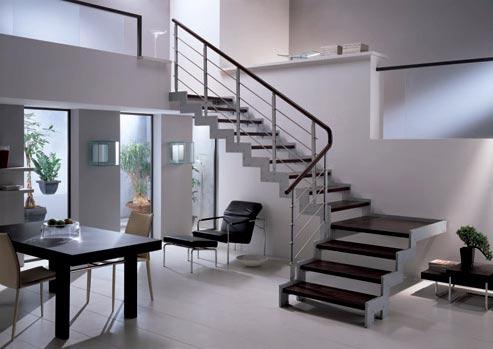 Tipos de escaleras para el interior de la casa tip del for Huecos de escaleras modernos