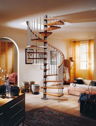 Tipos de escaleras para el interior de la casa tip del for Escaleras de casas de lujo