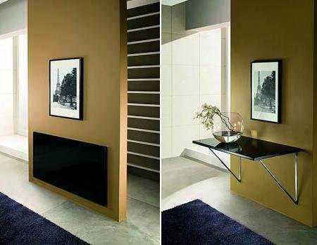 Muebles para salas peque as tips que no te puedes perder - Mesa plegable pequena ...