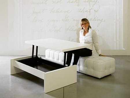 Muebles para salas peque as tips que no te puedes perder - Mesas plegables para salon ...