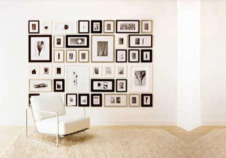 Decoraci n con cuadros adorna las paredes de la sala - Cuadros de interiores ...