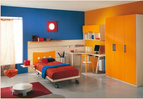 Escogiendo el esquema de colores para tu casa pintura - Habitacion juvenil azul ...