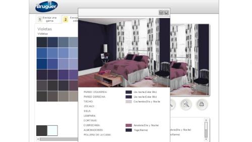 Bruguer nos presenta un completo simulador de ambientes - Simulador pintar habitacion ...