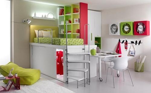 Habitaciones juveniles dormitorio decora ilumina for Comodas alargadas