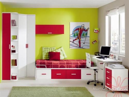 Habitaciones juveniles dormitorio decora ilumina for Dormitorios juveniles modernos precios