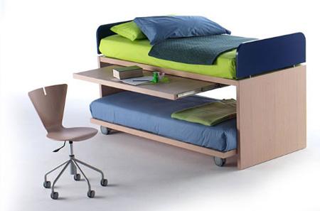 Camas nido para el dormitorio de los ni os y adolescentes for Escritorio para cama nido