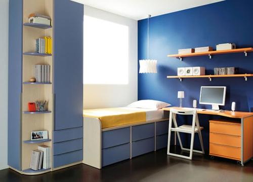 Habitaciones juveniles dormitorio decora ilumina for Cuartos pintados de azul