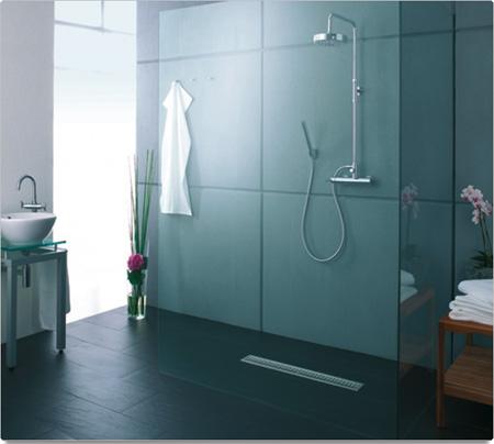 C mo hacer una ducha de obra ba o decora ilumina - Plato ducha suelo ...
