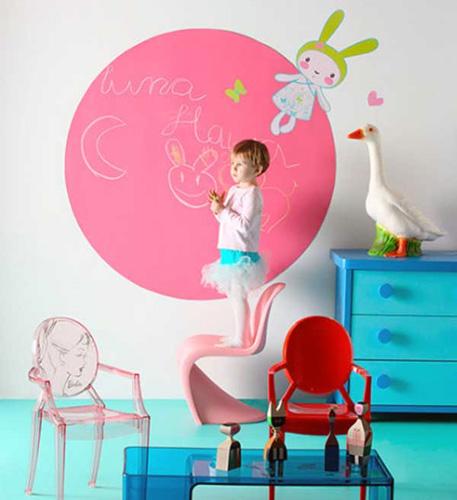 Consejos para pintar la habitaci n infantil dormitorio - Pintura tipo pizarra ...