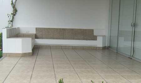 Muebles de obra o concreto para tu terraza resistentes y - Cojines para sillones de terraza ...