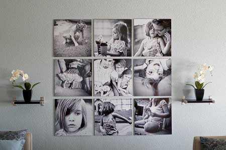 C mo decorar mi cuarto con fotos paredes decora ilumina for Como hacer un cuadro con fotos familiares