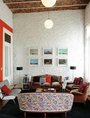 C mo decorar una pared de ladrillos paredes decora ilumina - Se puede poner una chimenea en un piso ...