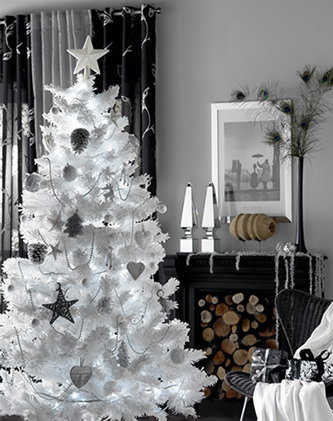 Decoraci n navidad ap ntate a la tendencia animal print - Arbol navideno blanco decorado ...