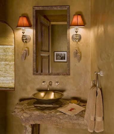 Decoraci n de ba os r sticos peque os ba o decora ilumina for Espejos de bano rusticos