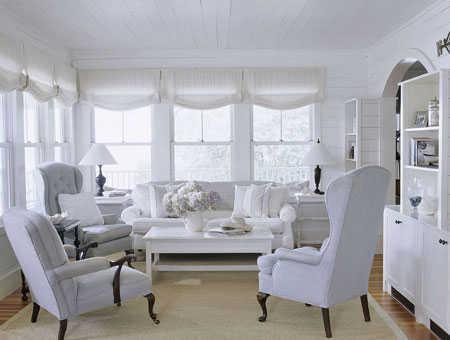 El color blanco la nueva tendencia en decoraci n de for Muebles de sala blancos