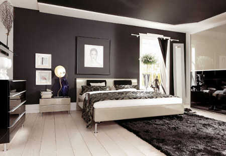 You can also choose two different shades of one color to achieve a more  balanced and even. For example, this room with two shades of purple make  the room ...