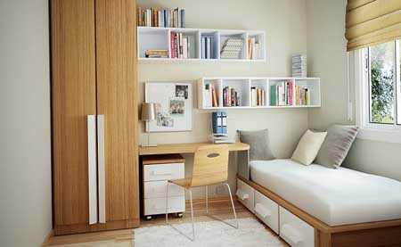 Muebles para habitaciones peque as muebles decora ilumina for Repisas espacios pequenos