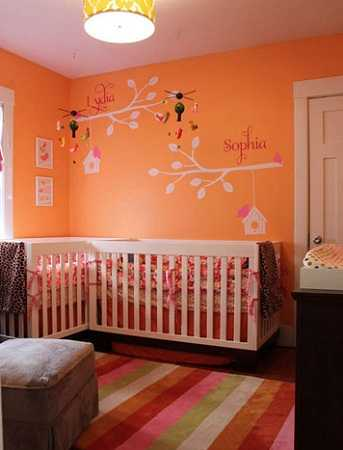 Dormitorio infantil naranja: excelente opción para tu niña ...
