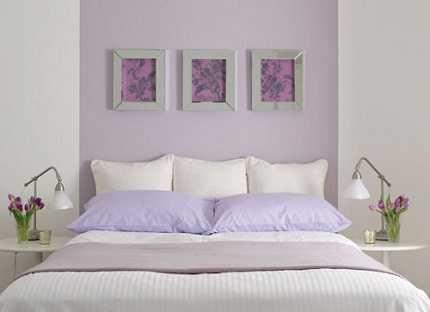 Dormitorio de invitados en tonos pastel para agrandarlo - Dormitorio malva ...