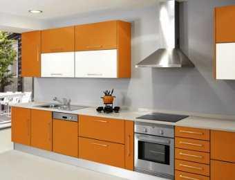 Decorar una cocina de color naranja el tono de moda - Cocina blanca y naranja ...